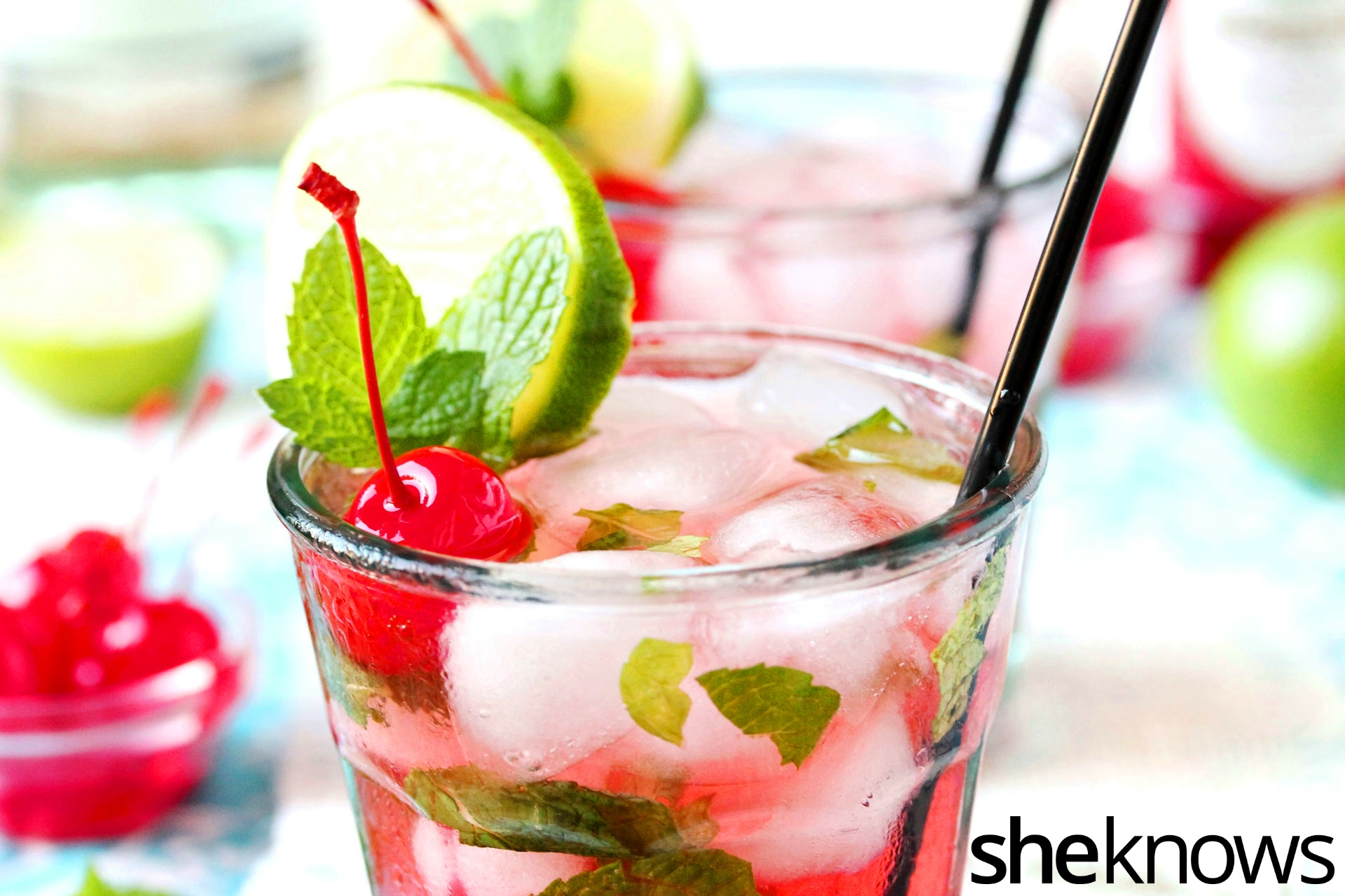 Your childhood Shirley Temple, all grown up mojito-style