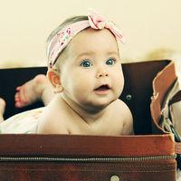 Baby girl vintage photo