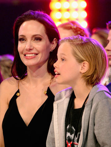 Angelina Jolie and daughter Shiloh