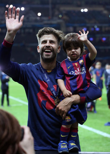 Gerard Pique with son Milan