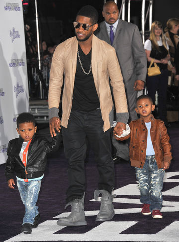 Usher with his two sons