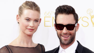 behati prinsloo and adam levine at Emmys