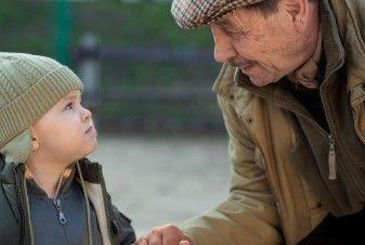 boy and elderly man